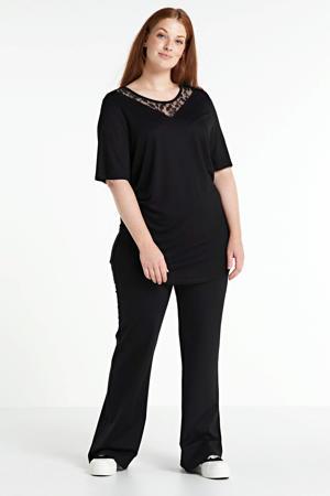 high waist flared legging Allie zwart