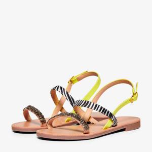 FREE  sandalen roze/zebraprint