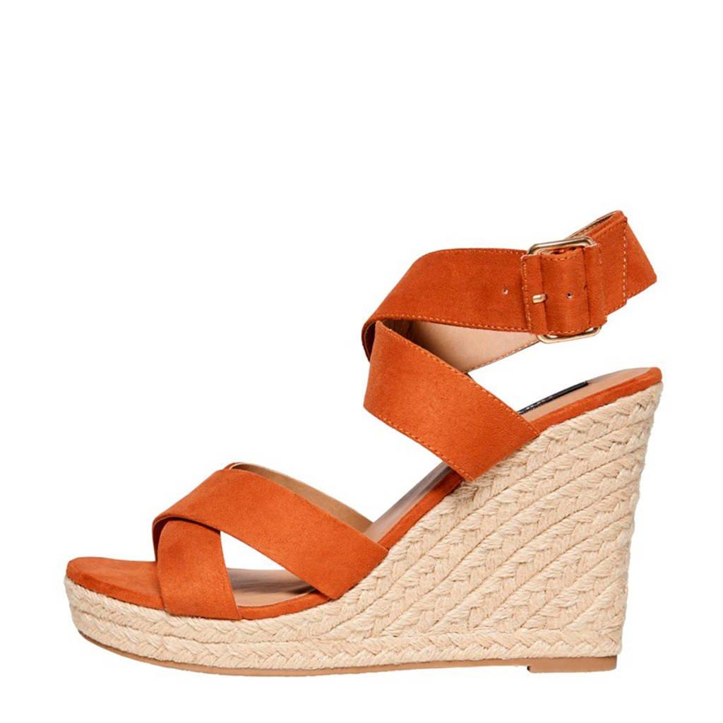 ONLY MANYA  sandalettes cognac/oranje, Cognac/oranje