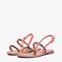 ONLY EVA  sandalen roze/panterprint, Roze/multi