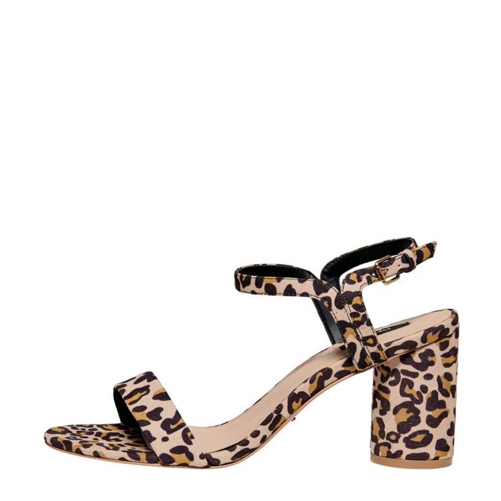 ONLY   sandalettes panterprint, Beige/bruin