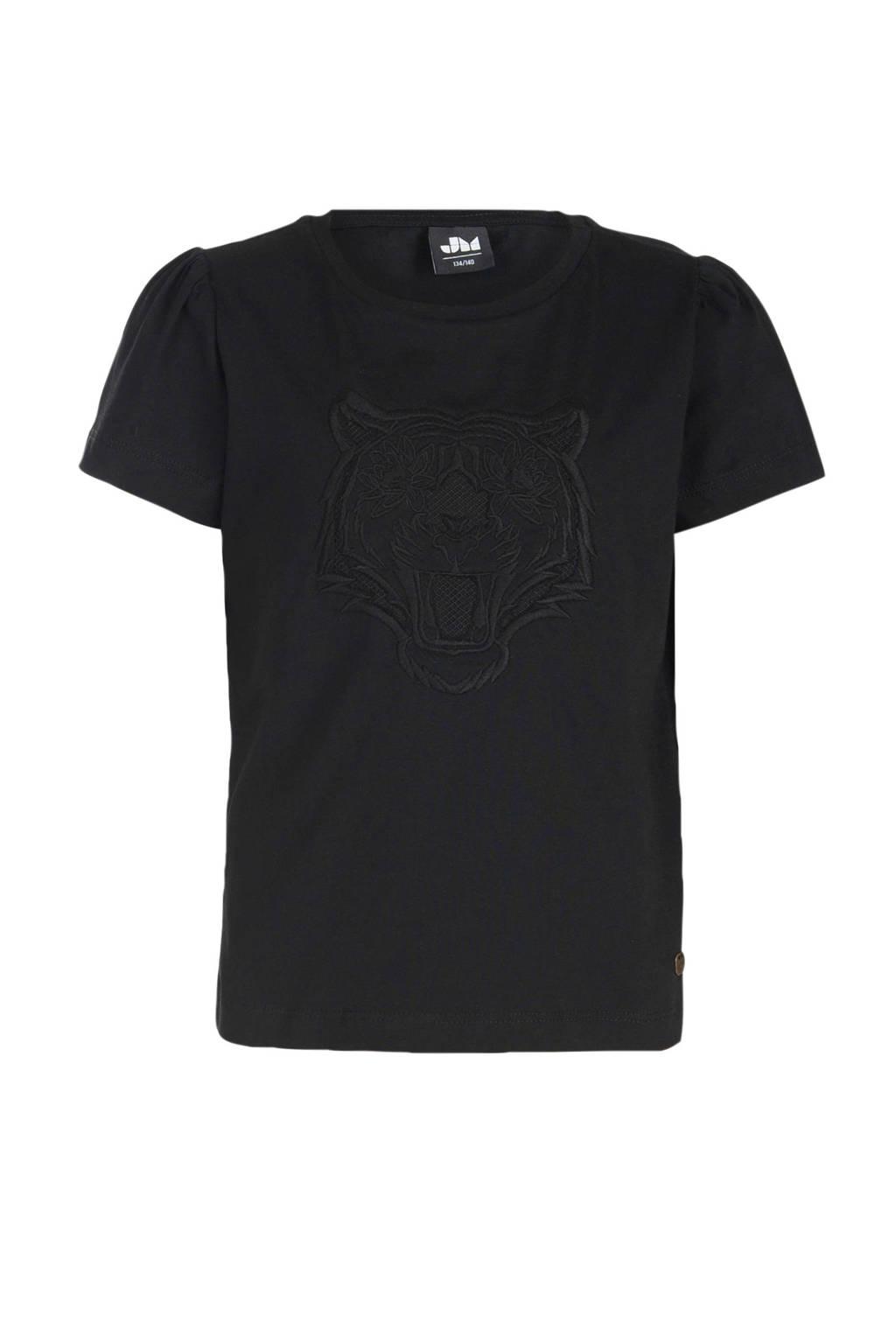 Jill & Mitch by Shoeby T-shirt Nova met printopdruk zwart, Zwart