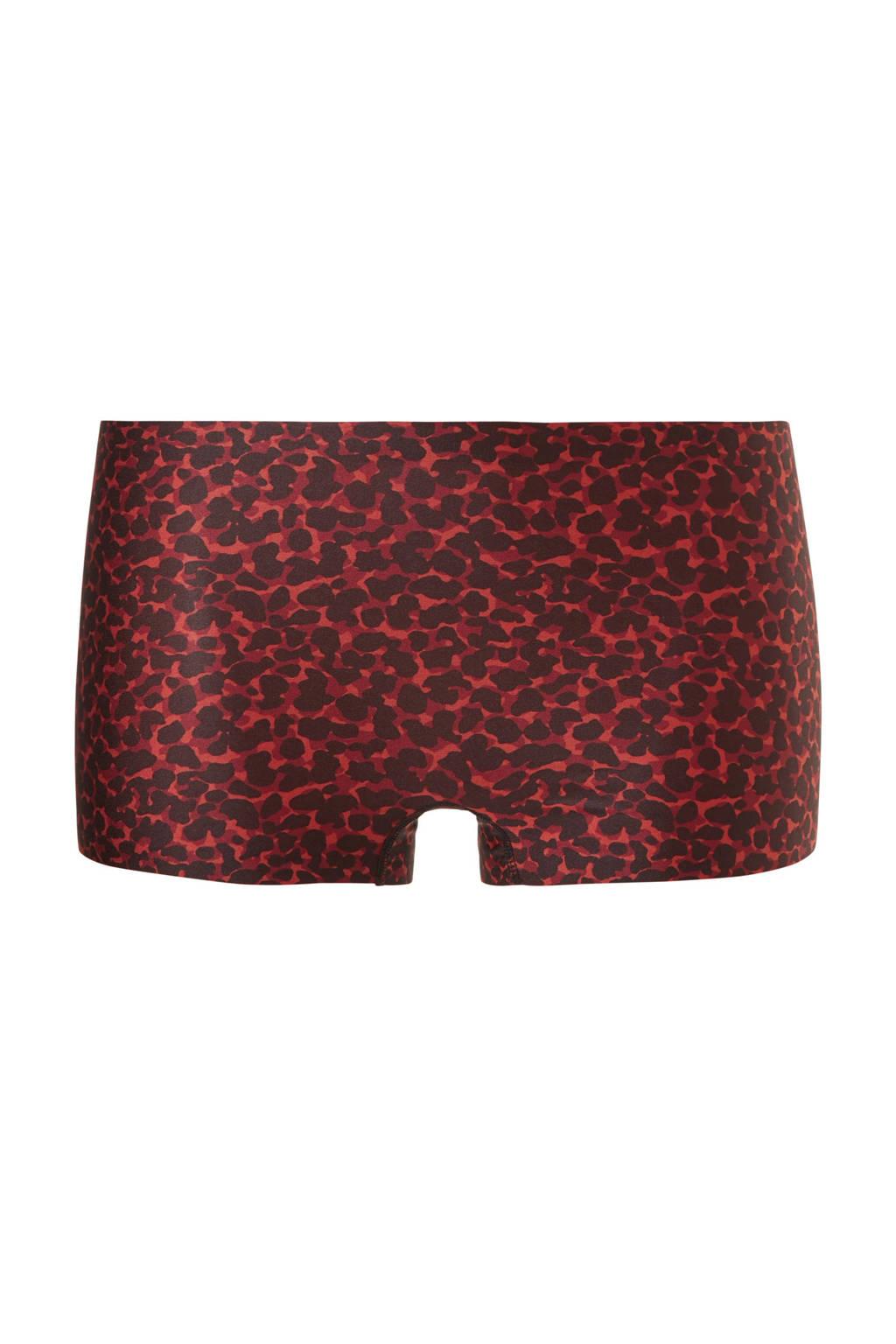ten Cate Secrets short met panterprint rood/zwart, Rood/zwart