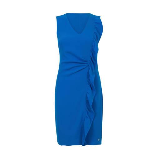 Steps jurk met ruches blauw