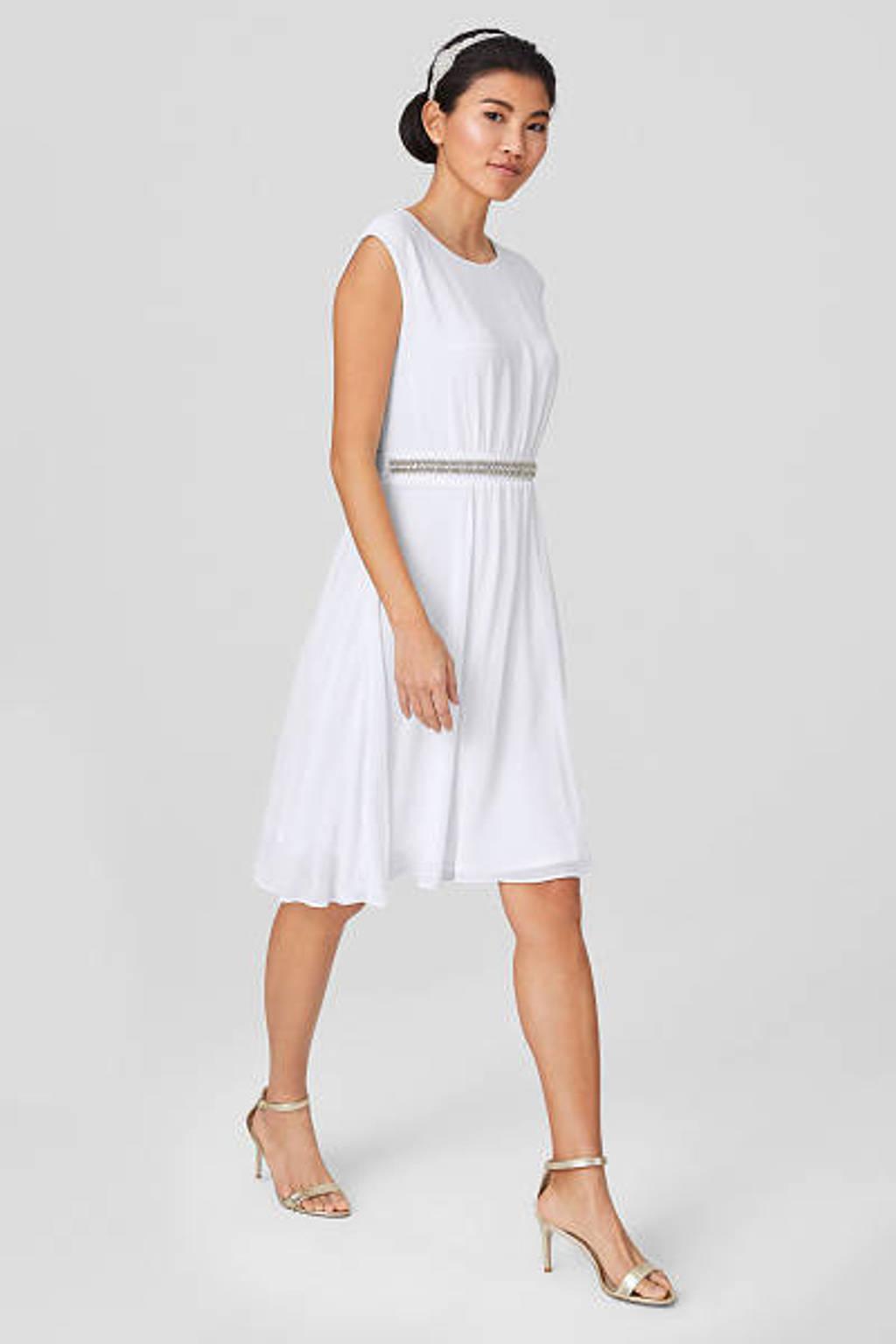 C&A Yessica jurk met strass steentjes ecru, Ecru