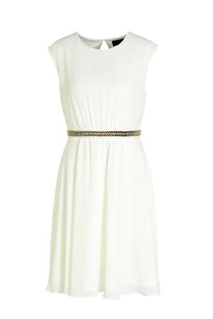 jurk met strass steentjes ecru