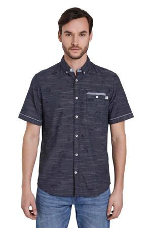 slim fit overhemd donkerblauw