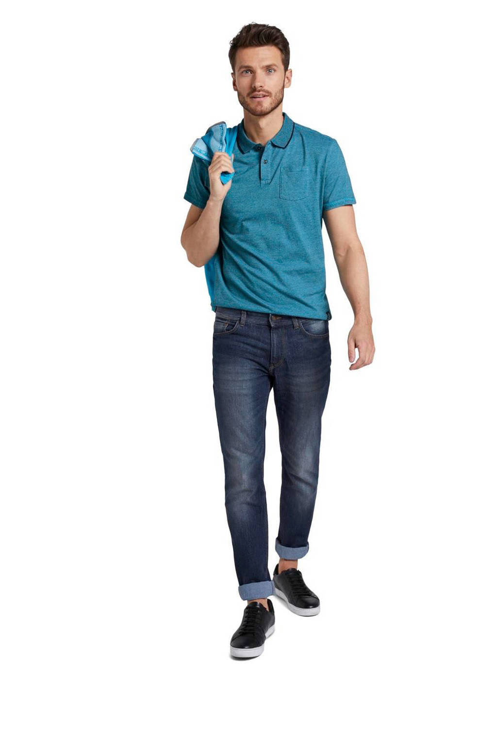 Tom Tailor slim fit polo blauw, Blauw
