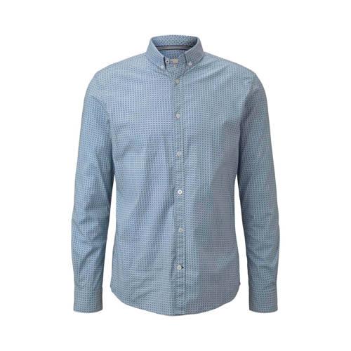 Tom Tailor slim fit overhemd met all over print bl