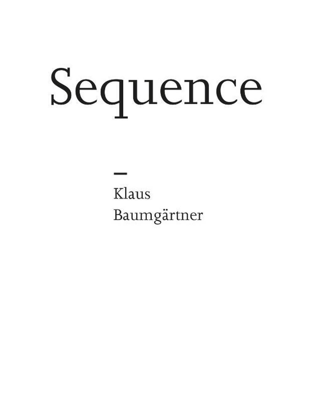 Sequence - Hans Locher