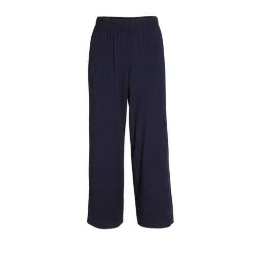 Yoek cropped loose fit broek donkerblauw