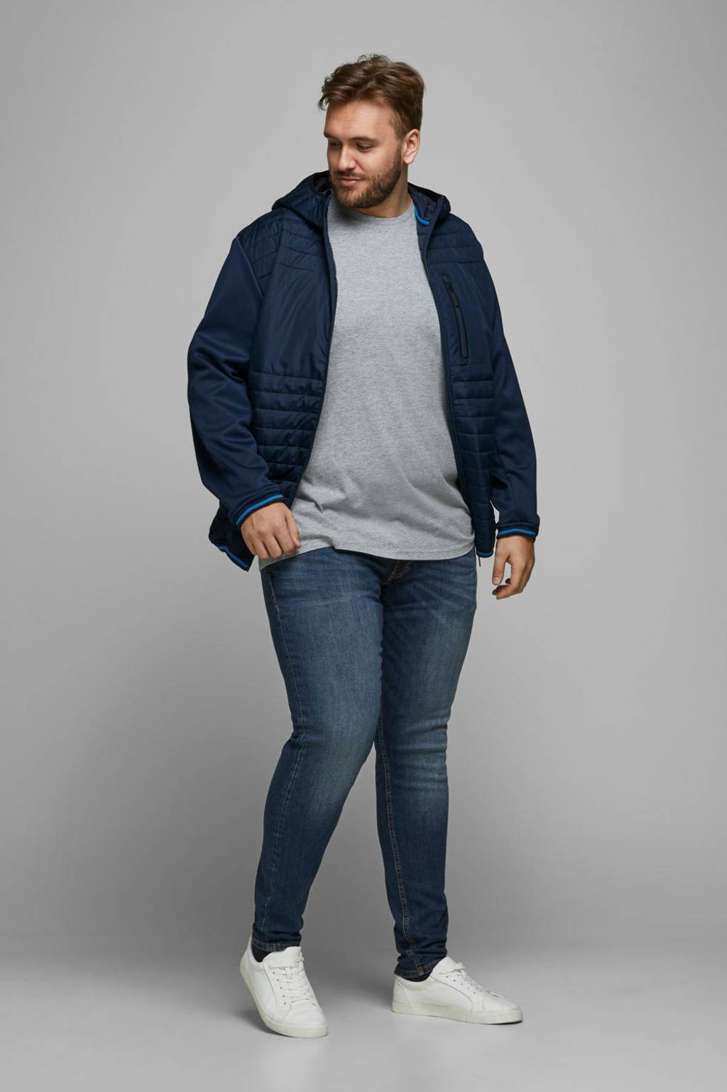 JACK & JONES PLUS SIZE slim fit jeans Liam dark denim, Dark denim