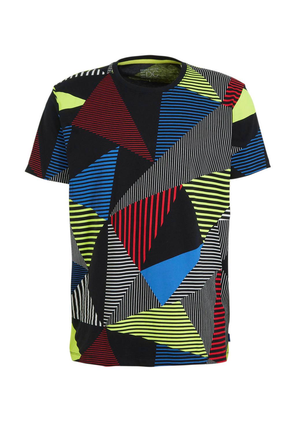 edc Men T-shirt met grafische print zwart, Zwart