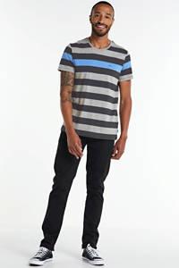 edc Men gestreept T-shirt grijs, Grijs