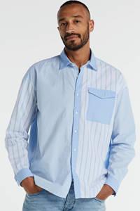 edc Men slim fit overhemd lichtblauw, Lichtblauw