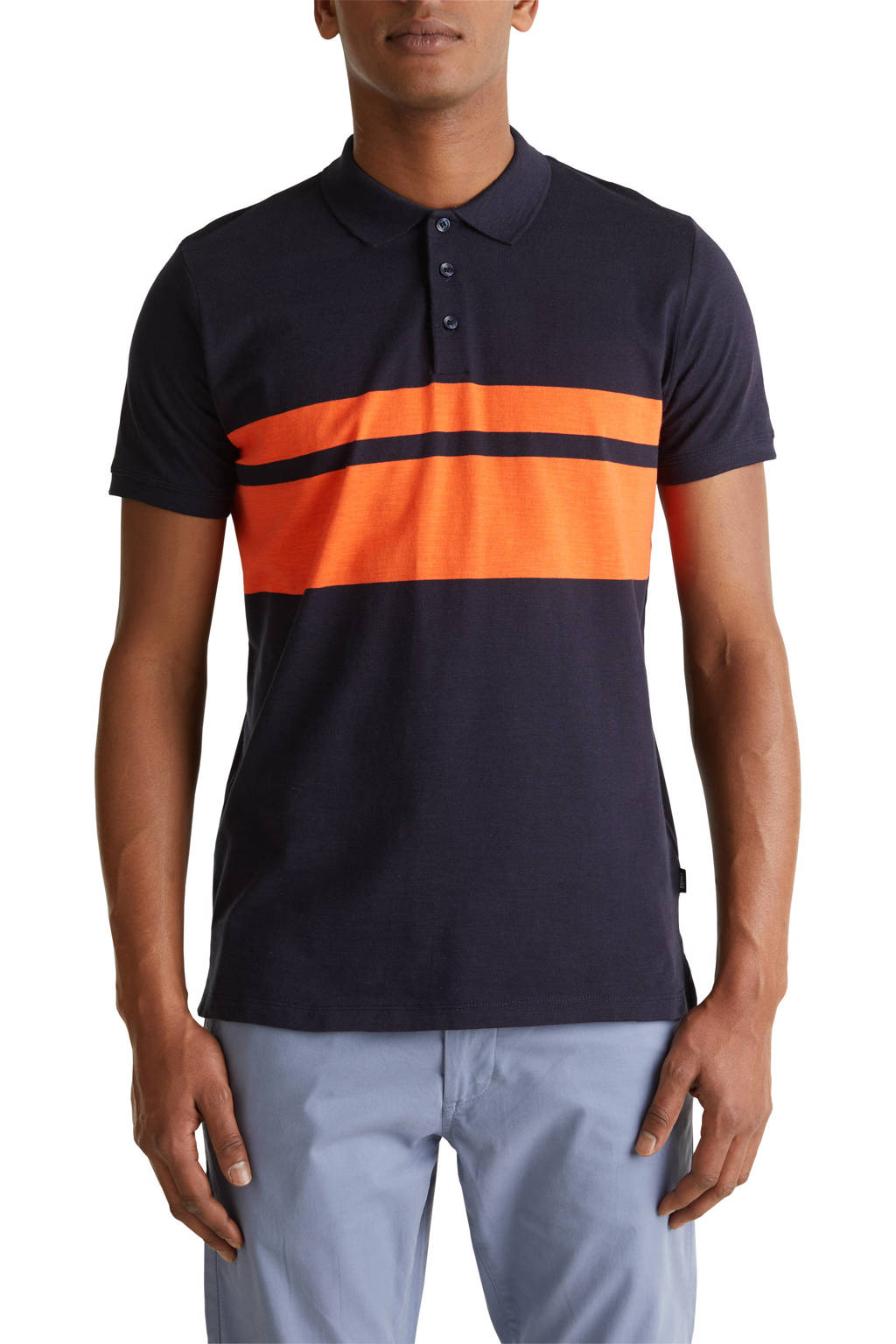 ESPRIT Men Casual slim fit polo donkerblauw, Donkerblauw