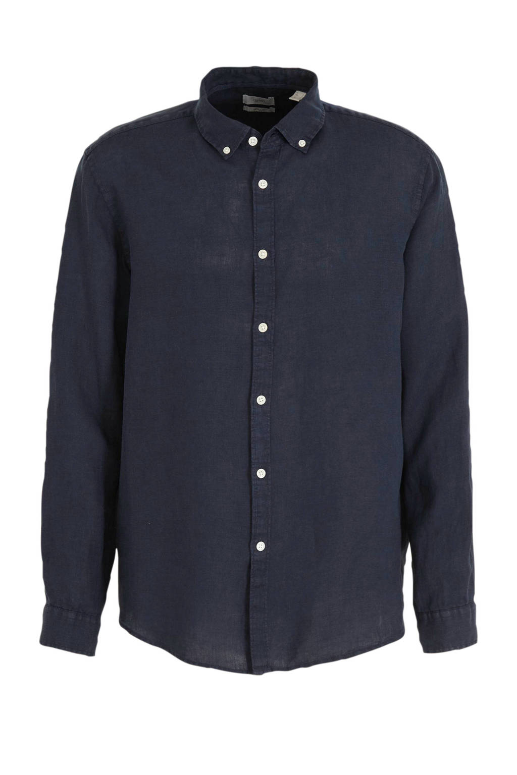 ESPRIT Men Casual slim fit overhemd, Donkerblauw