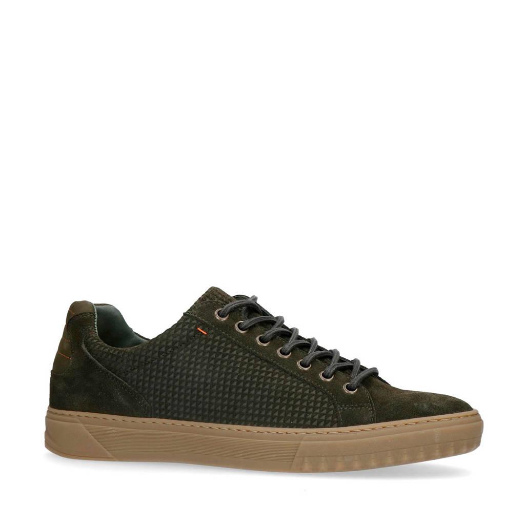 Manfield   suède sneakers donkergroen, Donkergroen