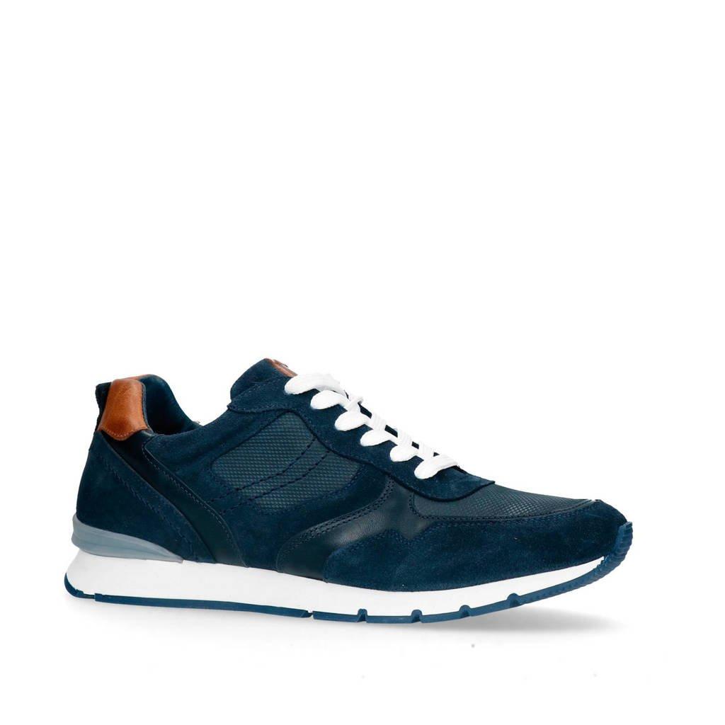 No Stress   suède sneakers donkerblauw, Donkerblauw