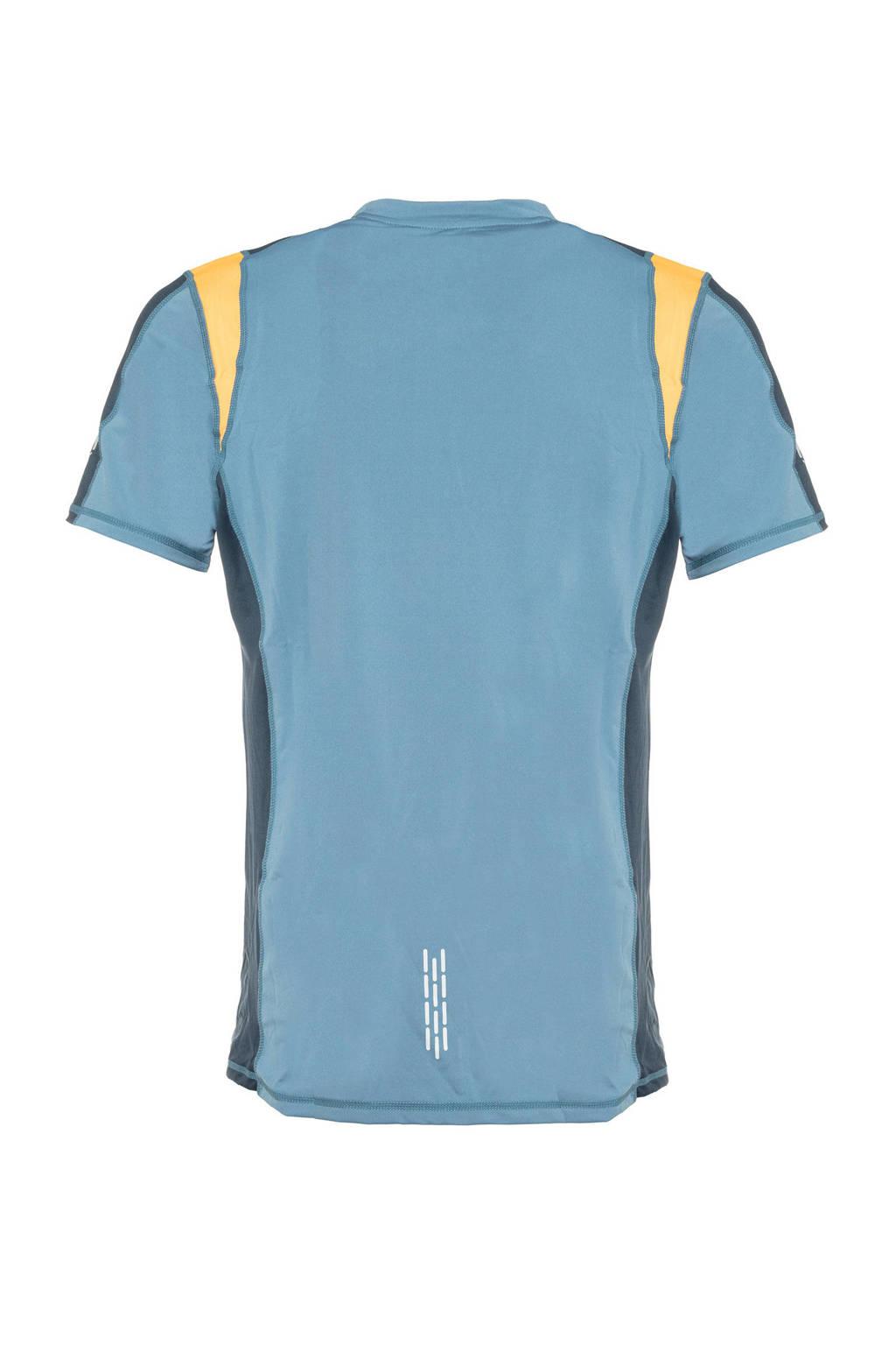 Scapino Osaga Pro   hardloopshirt blauw/geel, Blauw/geel