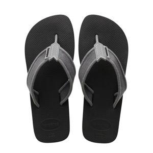 Urban Basic  teenslippers grijs/zwart