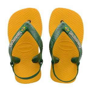 Baby Brasil Logo II  teenslippers geel/groen
