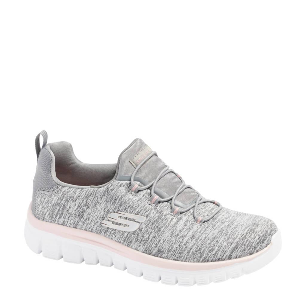 Skechers   sneakers grijs/roze, Grijs/roze