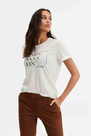 T-shirt met printopdruk snow white