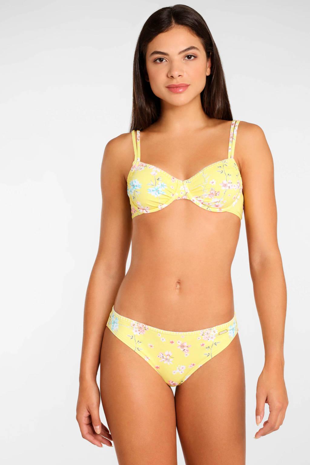 Sunseeker gebloemd bikinibroekje geel, Geel