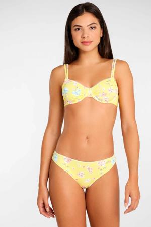 gebloemd bikinibroekje geel