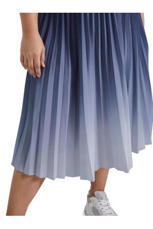 dip-dye plissé rok blauw