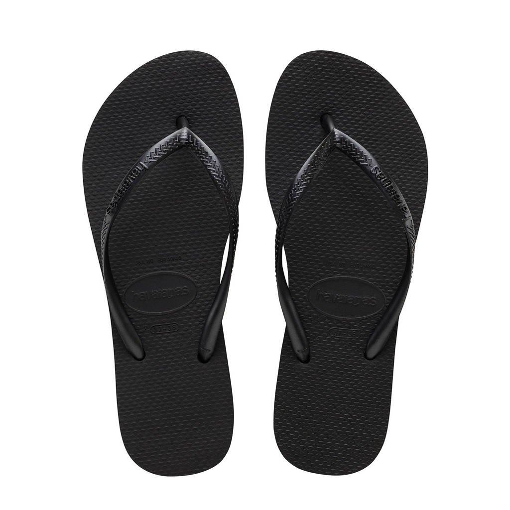 Havaianas Slim Flatform  teenslippers zwart, Zwart