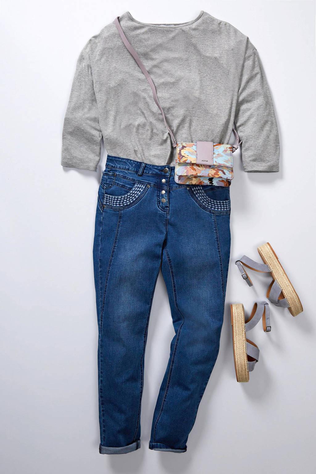Zhenzi high waist skinny jeans blauw, Blauw