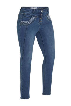 high waist skinny jeans blauw
