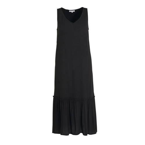 Zhenzi maxi jurk en plooien zwart