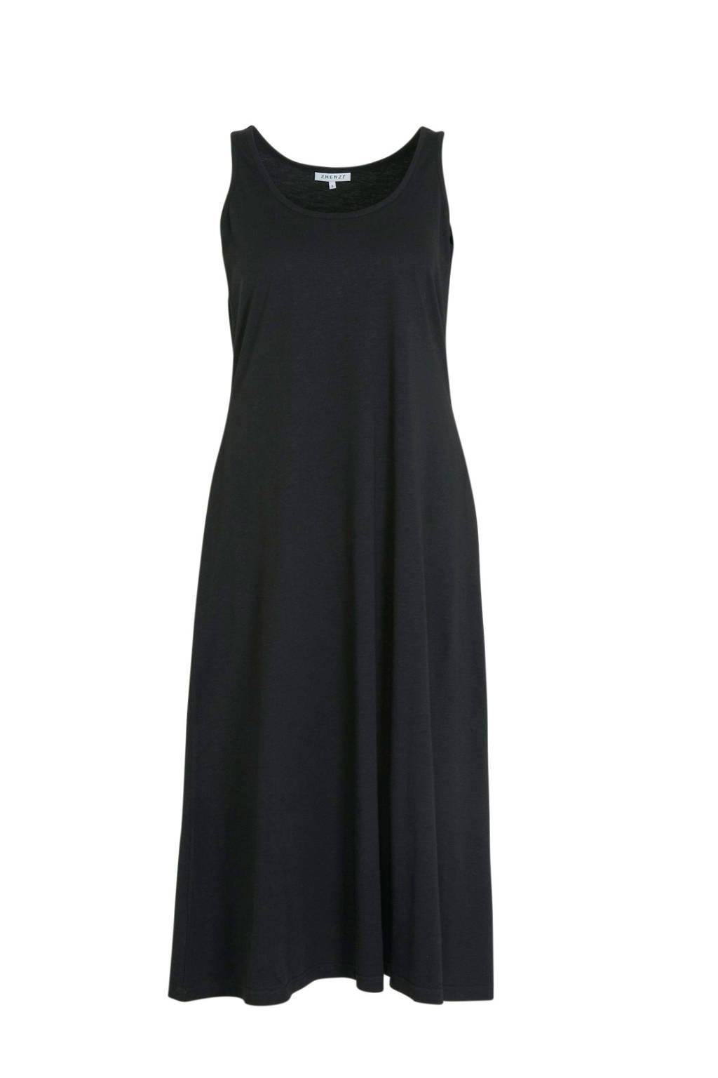 Zhenzi jersey maxi jurk zwart, Zwart