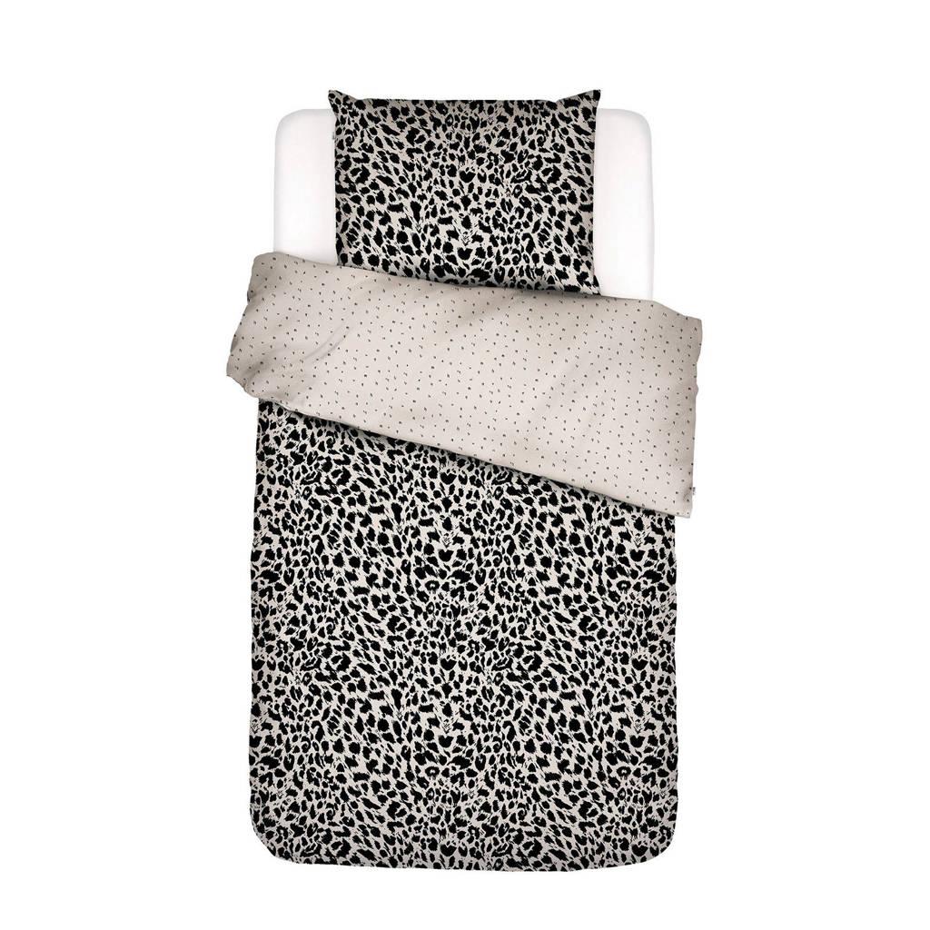 Covers & Co perkalkatoenen dekbedovertrek 1 persoons, Zand, 1 persoons (140 cm breed)