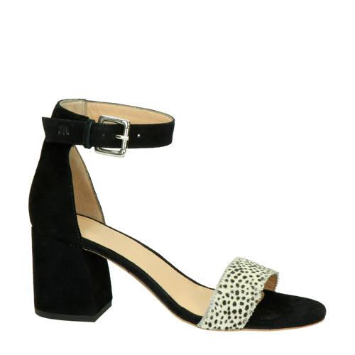 Maruti su??de sandalettes zwart/cheetahprint