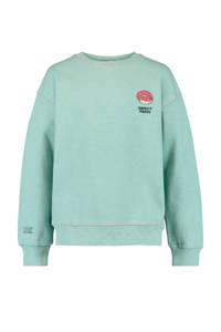 America Today Junior sweater en borduursels mintgroen, Mintgroen