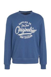 C&A Angelo Litrico sweater met printopdruk blauw, Blauw