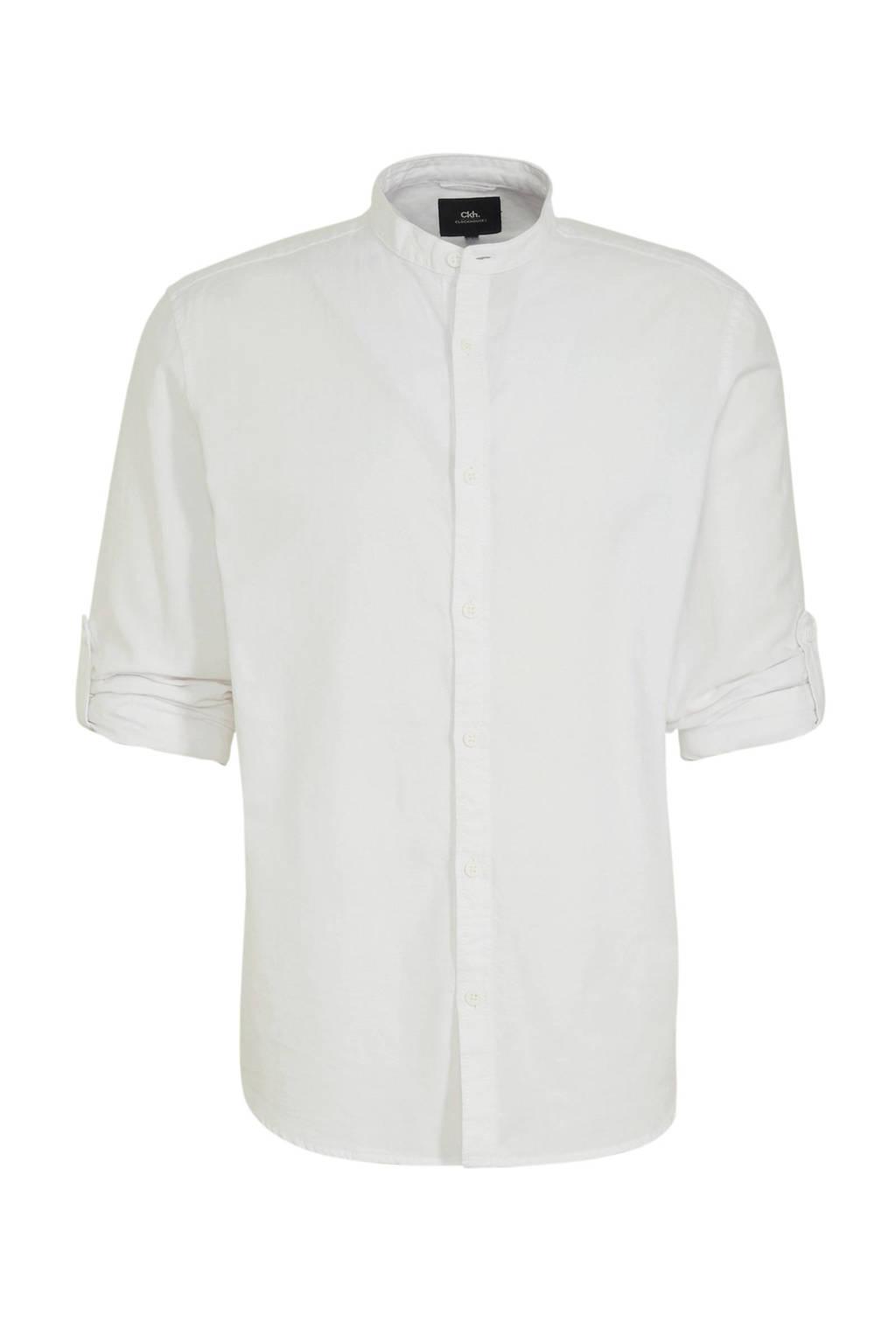 C&A Clockhouse slim fit overhemd met biologisch katoen wit, Wit