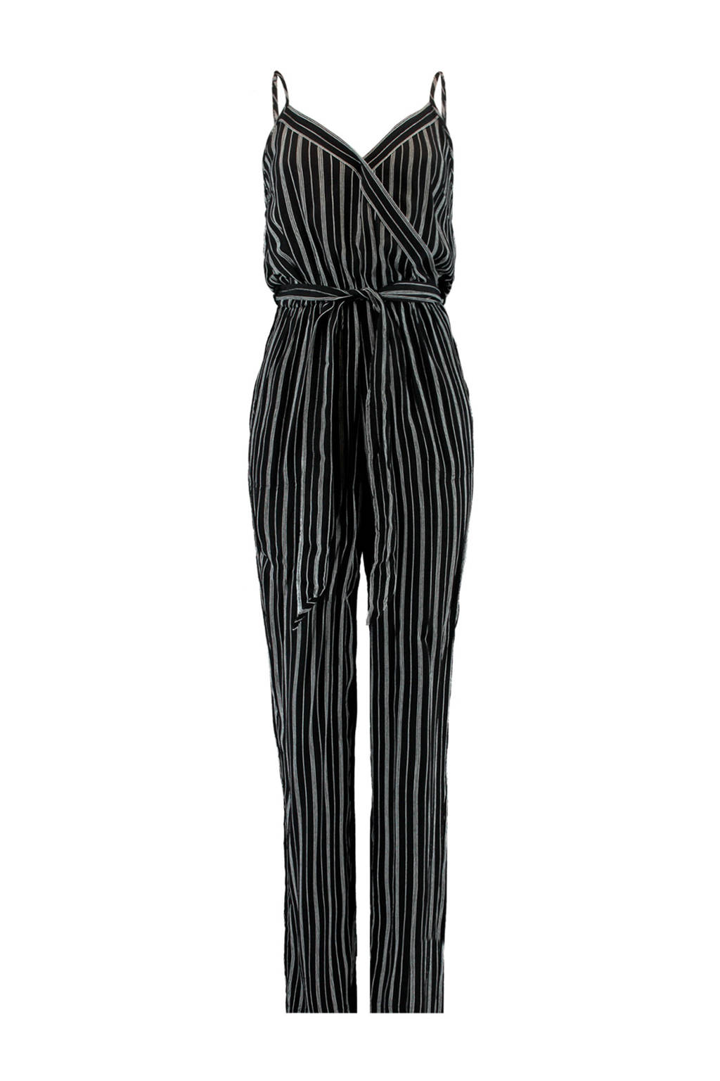 America Today jumpsuit Pamela met all over print zwart, Zwart