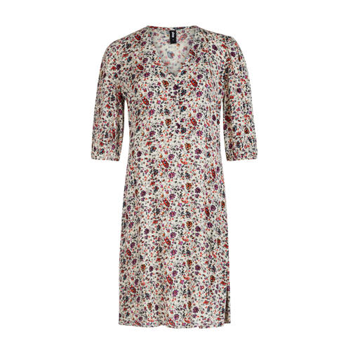 Eksept by Shoeby jurk Julia met all over print wit rood paars