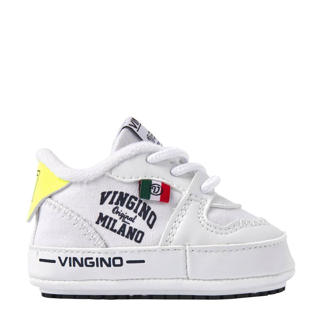Vingino Yari  babyschoenen wit, Wit/geel