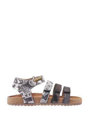 Giorgia  leren sandalen metallic/zwart