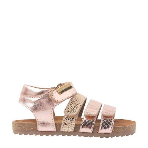 Vingino Giorgia leren sandalen metallic/roze
