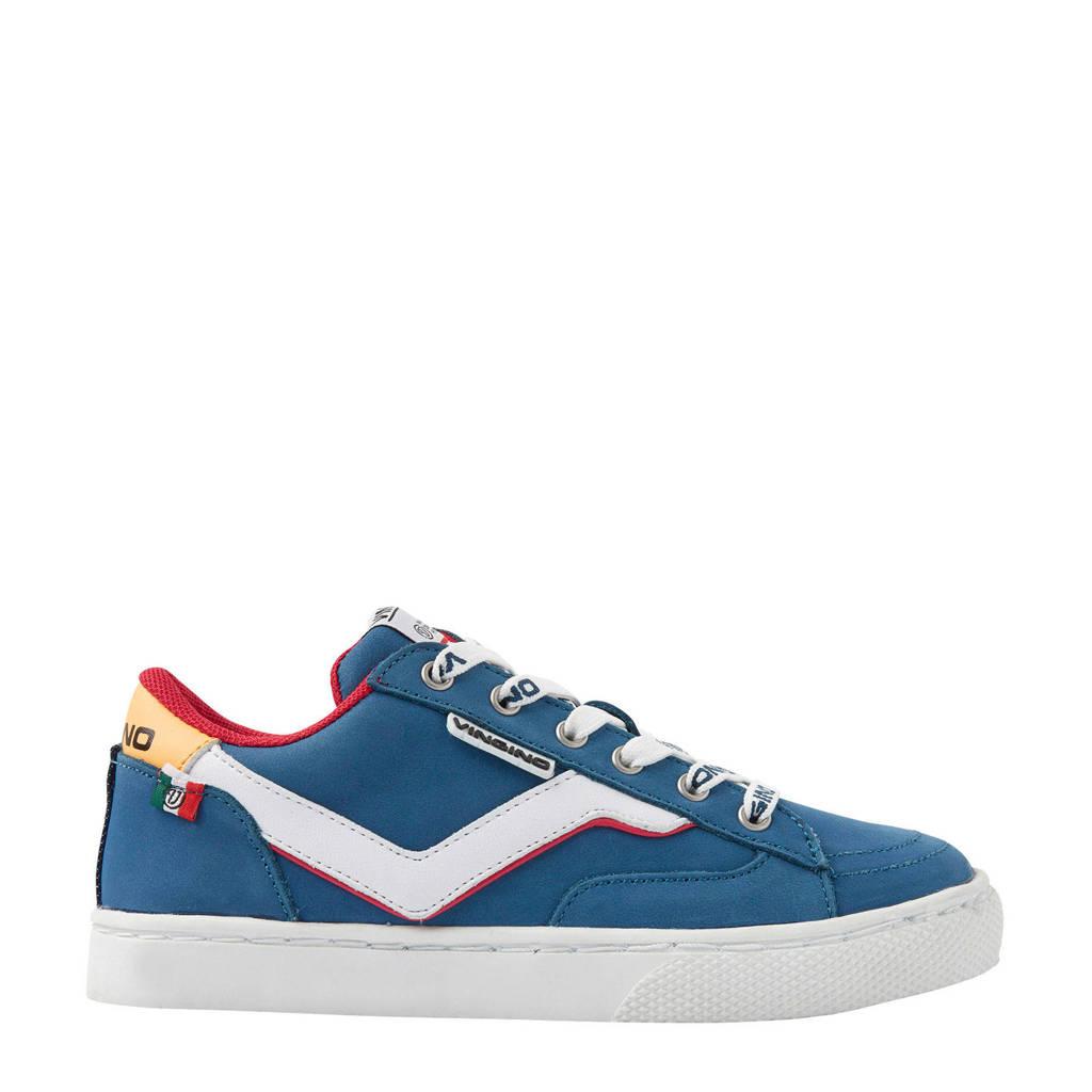 Vingino Kento  nubuck sneakers blauw, Blauw/multi