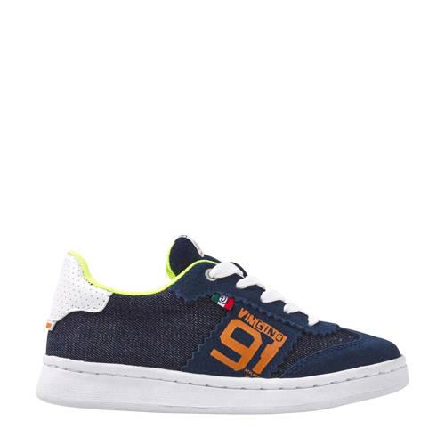 Vingino Danilo su??de sneakers blauw