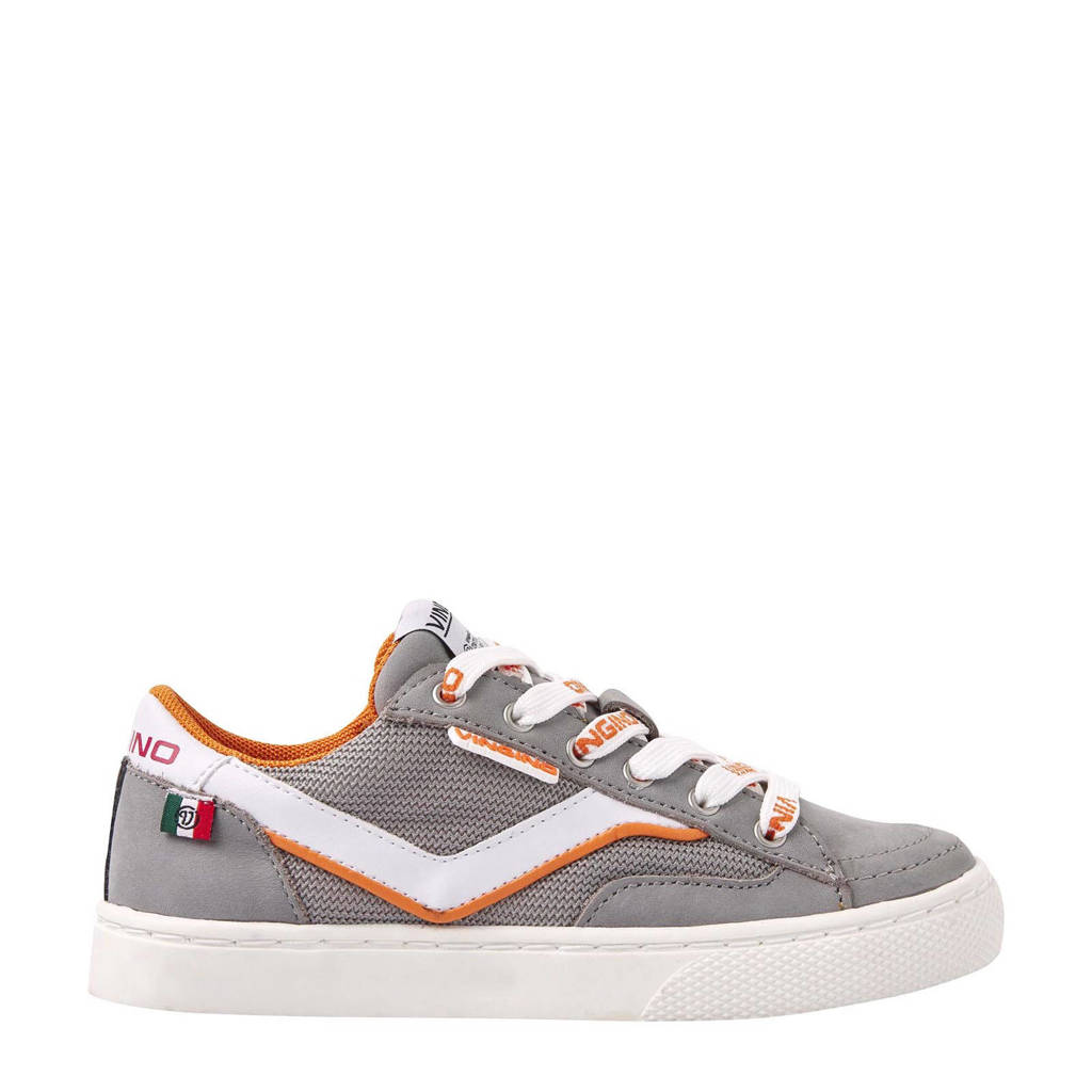 Vingino Kento  nubuck sneakers grijs, Grijs/multi
