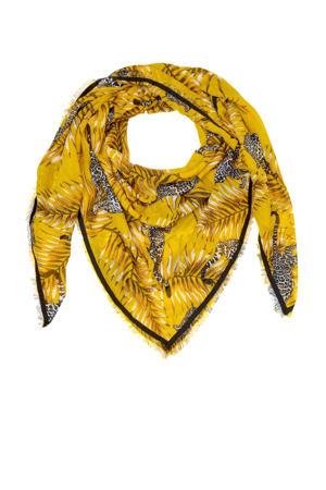 sjaal met panters geel